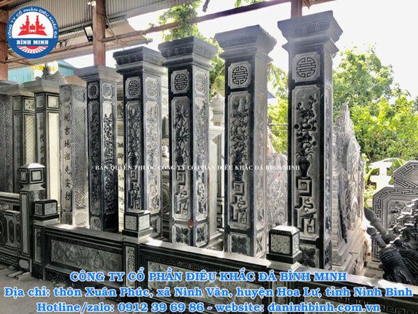 Mẫu cột hiên đá nhà thờ họ