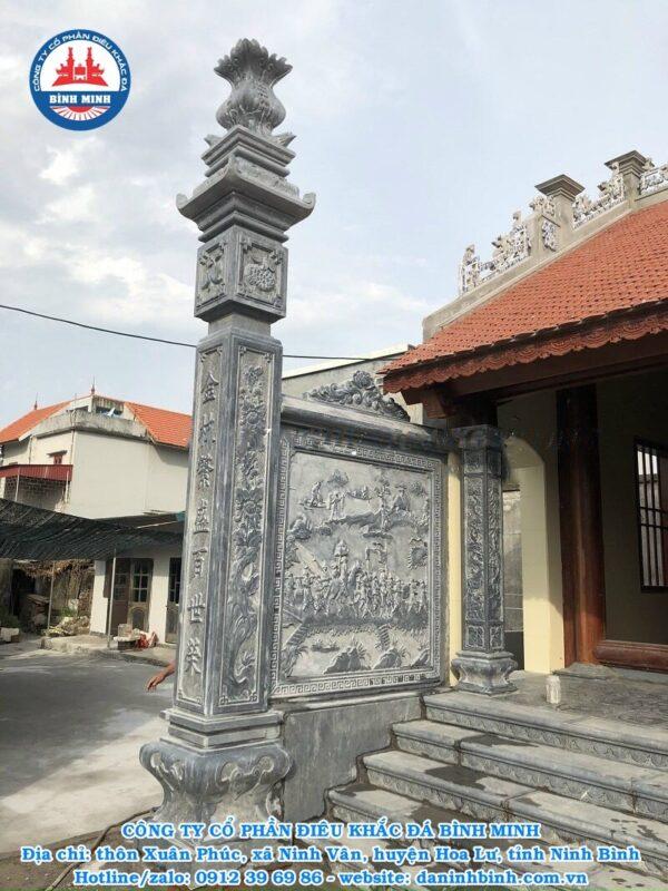 Thi công cột đồng trụ đá