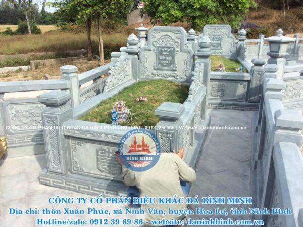 Bình Minh mẫu mộ đá đơn giản đẹp chuẩn phong thủy