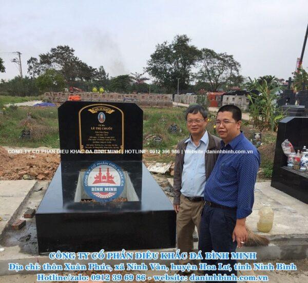 Bàn giao mộ đá hoa cương Công ty Bình Minh thi công