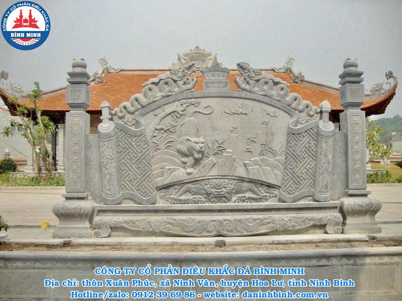 Mẫu cuốn thư đá tại đình chùa đẹp nhất