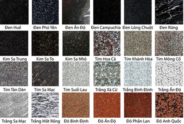 Chất liệu làm mộ đá hoa cương tại Việt Nam
