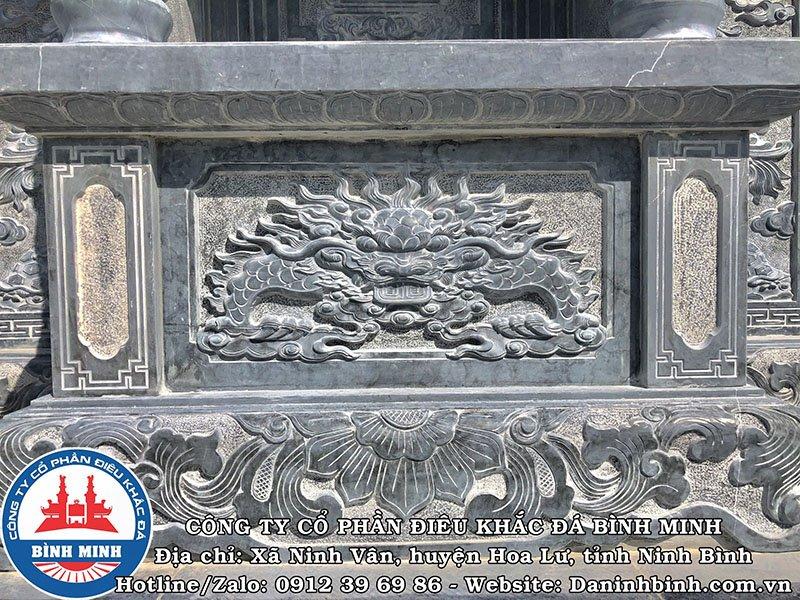 Chi tiết hổ phù lăng thờ đá đẹp tại Nam Định