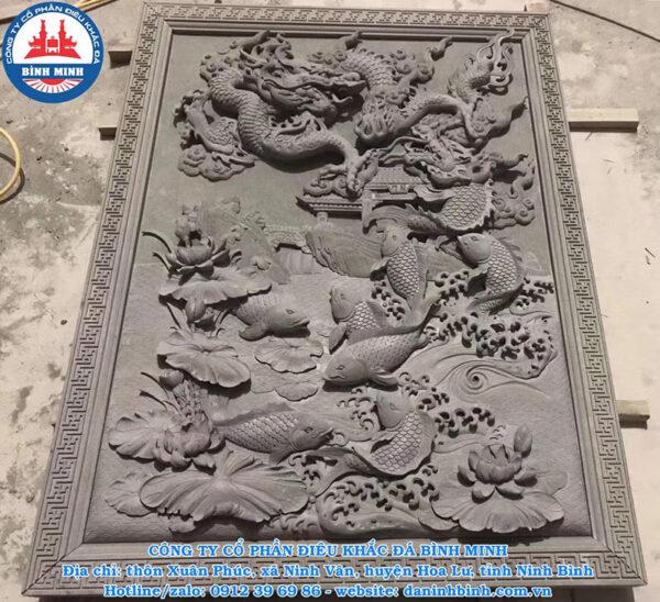 Chiếu đá cá chép hóa rồng Công ty Bình Minh