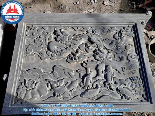 Chiếu đá cá chép hóa rồng đá xanh Thanh Hóa