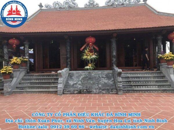 Chiếu đá tứ linh tại đình chùa