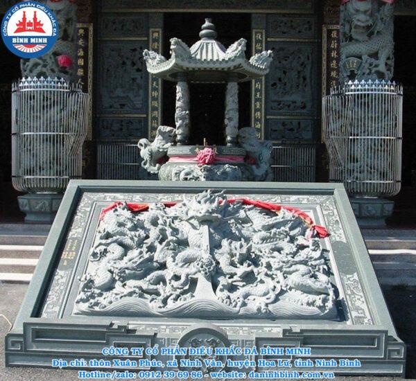 Chiếu rồng đá dành cho đình chùa
