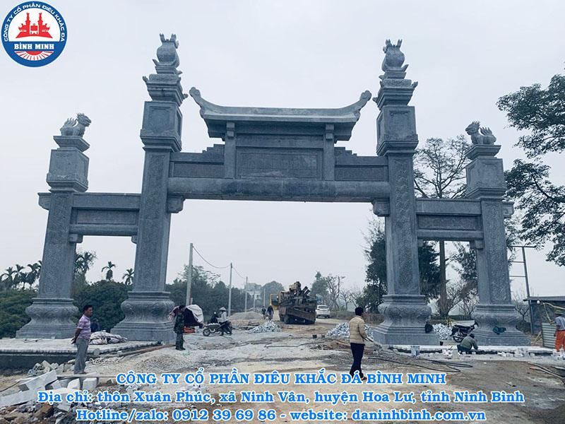 Cổng chùa hương bằng đá đẹp