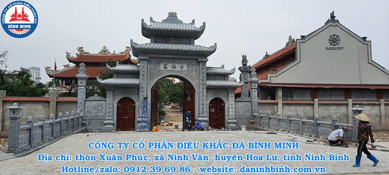 Mẫu cổng đình, chùa bằng đá đẹp