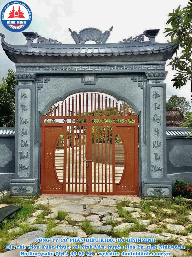 Hình ảnh cổng bằng đá granite cao cấp