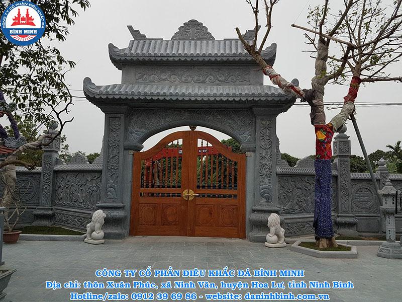 Cổng nhà thờ họ, đình chùa bằng đá đẹp nhất