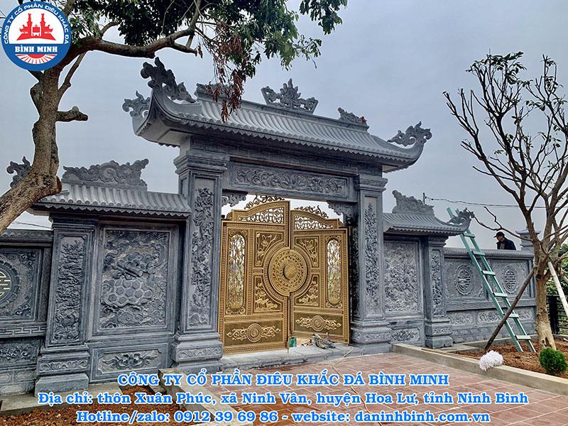 Thi công cổng đá nhà thờ họ trên Toàn Quốc