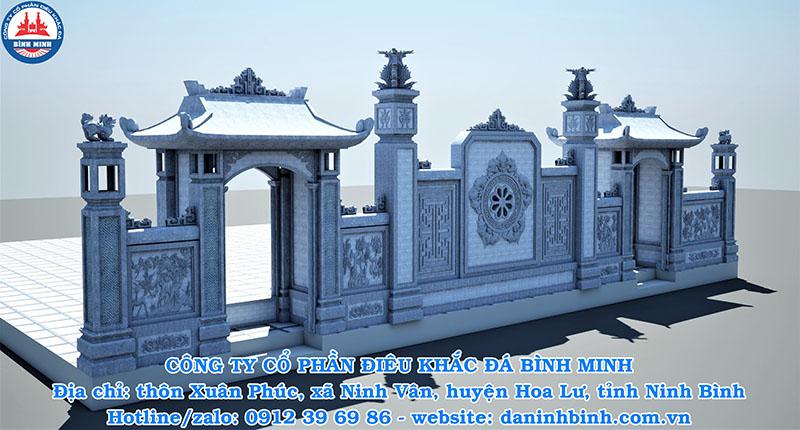 Bình Minh thi công cổng nhà thờ họ cao cấp