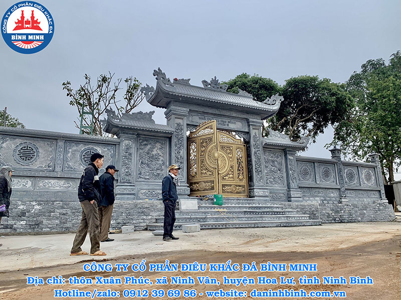 Bàn giao công trình cổng đá xanh Thanh Hóa