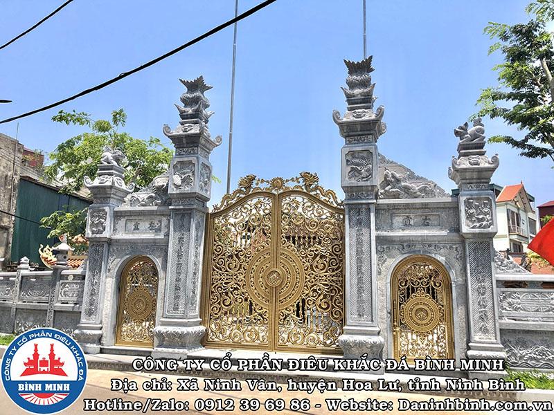 Mẫu cổng đá, cổng tam quan đá đẹp nhất Việt Nam