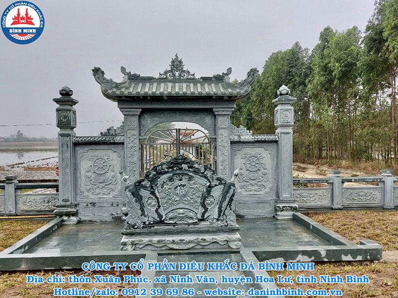 Mẫu cổng đá khu lăng mộ đẹp