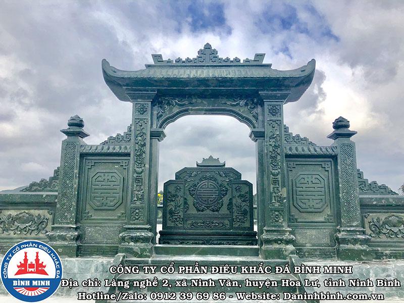 Mẫu cổng xanh rêu khu lăng mộ