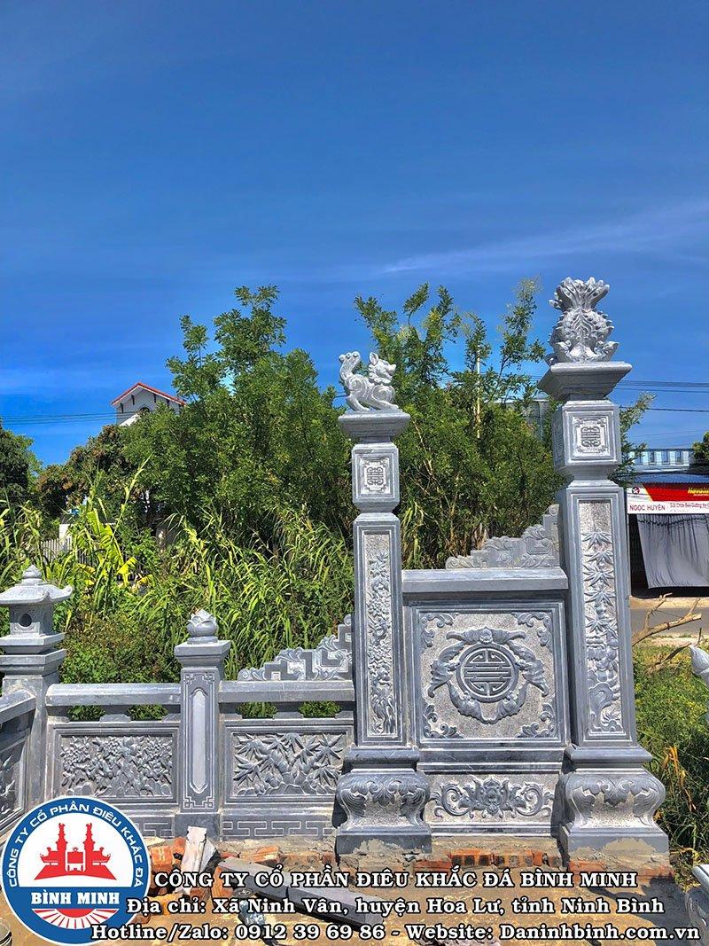 Cột đá đẹp khu lăng mộ đá đôi tại Nam Định