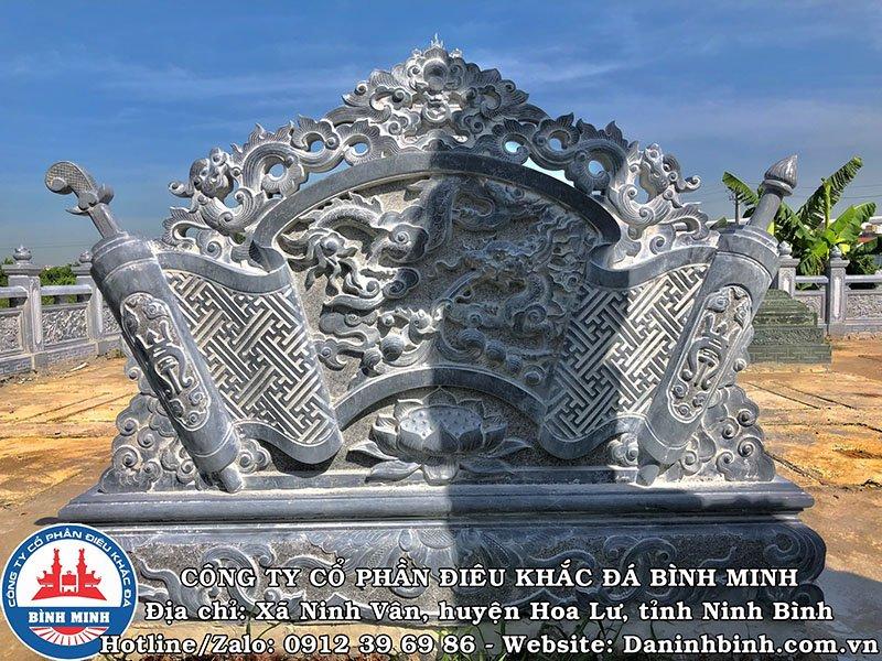 Cuốn thư đá khu lăng mộ tại Nam Định