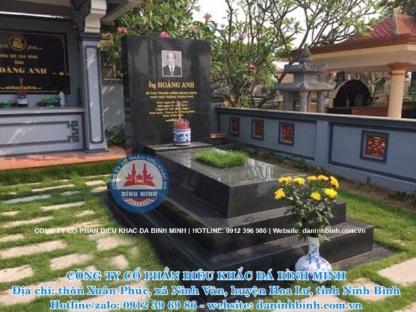 Hình ảnh mộ đá hoa cương đẹp tại nghĩa trang