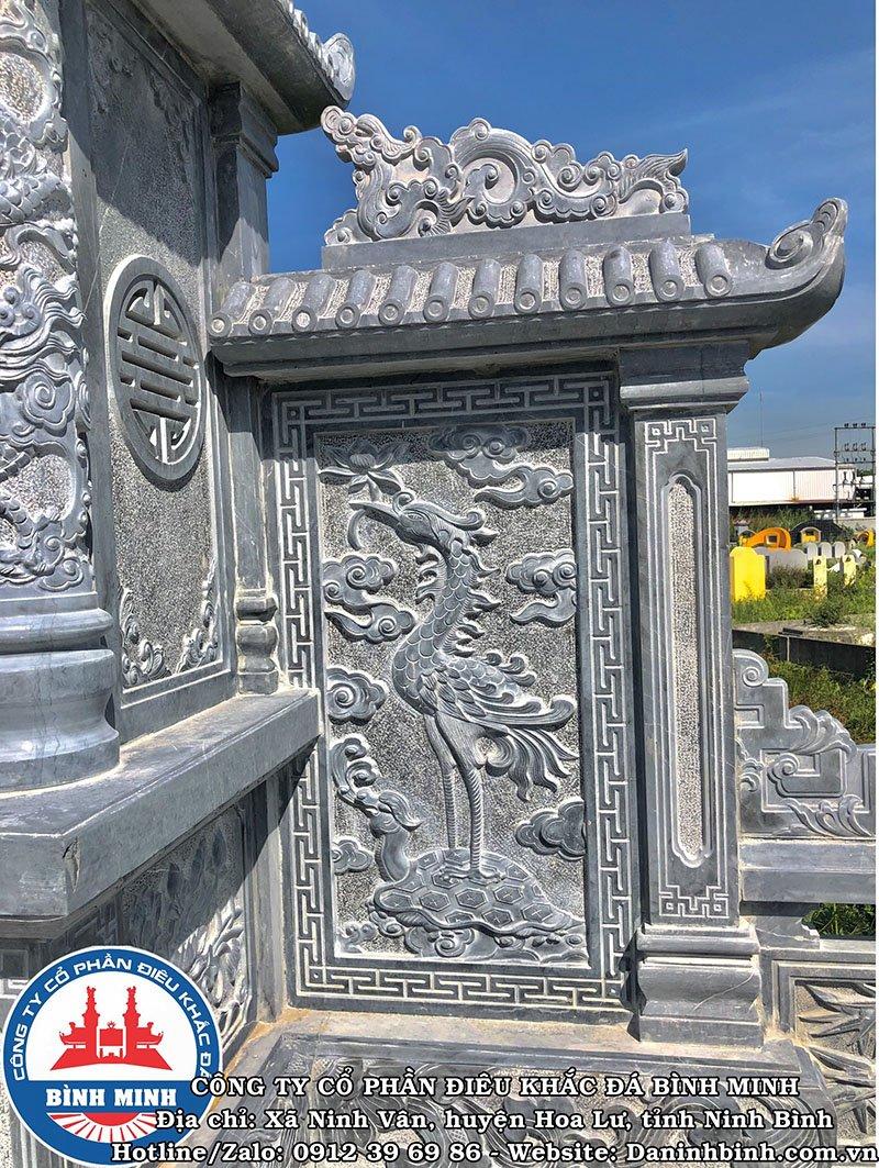 Hoa văn rùa cõng hạc lăng thờ khu lăng mộ