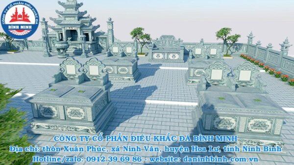 Khu lăng mộ đá đôi đẹp Công ty Bình Minh