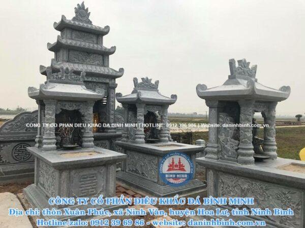 Khu lăng mộ đá một mái Công ty Bình Minh thi công