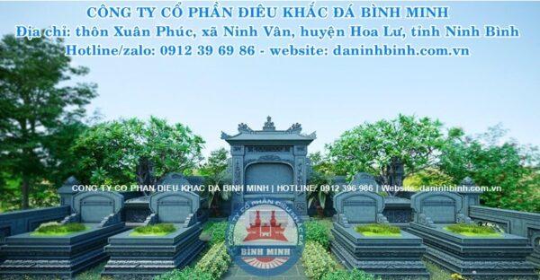 Khu lăng thờ đá cao cấp Công ty Bình Minh thi công