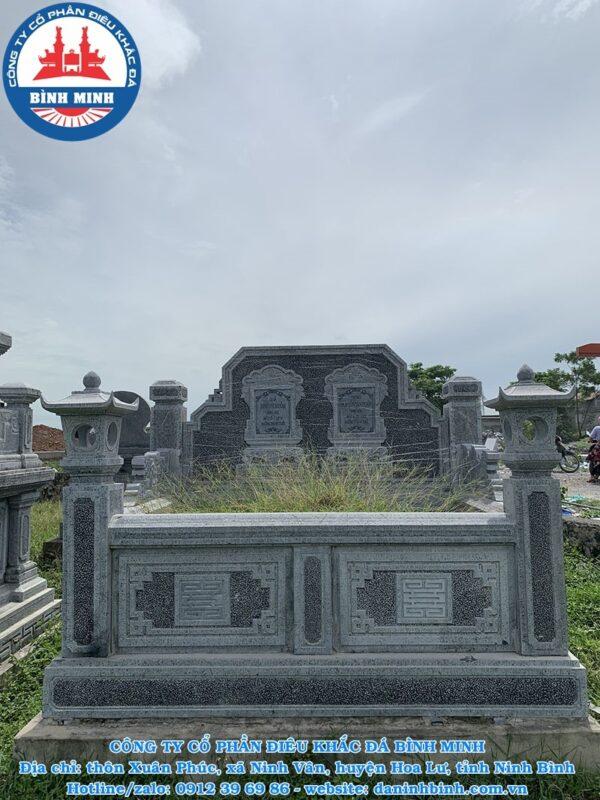 Kích thước mộ đá đôi chuẩn phong thủy