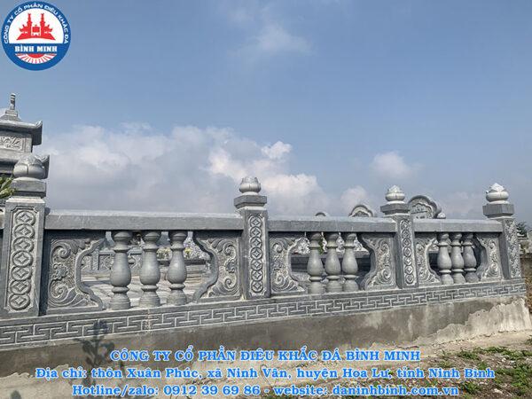 Lan can đá con tiện đá xanh Thanh Hóa