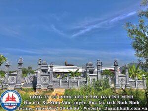 Mặt tiền khu lăng mộ đá đôi tại Nam Định