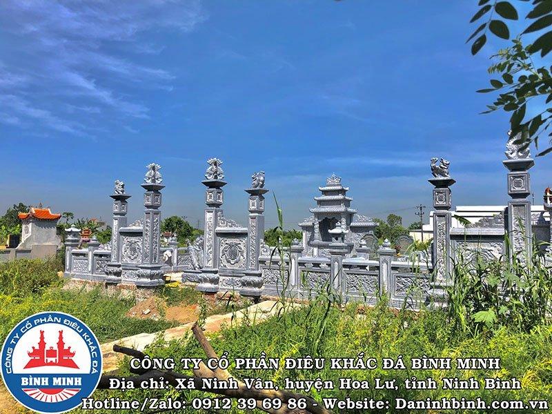 Công ty Bình Minh thi công khu lăng mộ đá đôi tại Nam Định