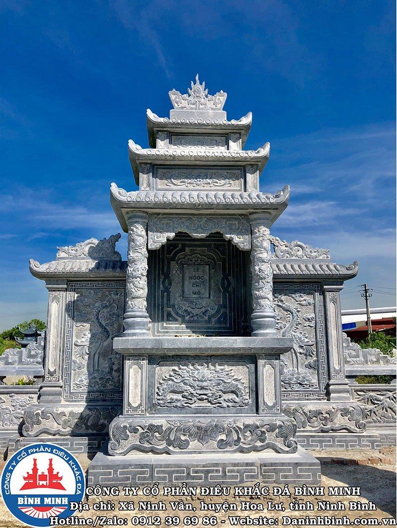 Lăng mộ đá hai cánh ba mái đao cong khu lăng mộ đá đôi tại Nam Định