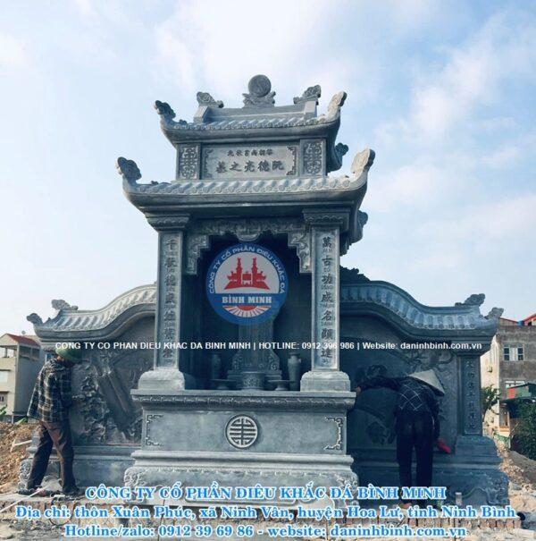 Lăng thờ đá cánh hai mái Công ty Bình Minh thi công