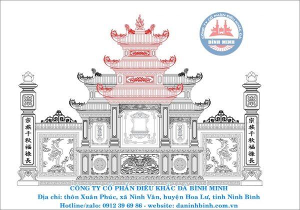 Lăng thờ đá cao cấp Công ty Bình Minh thiết kế