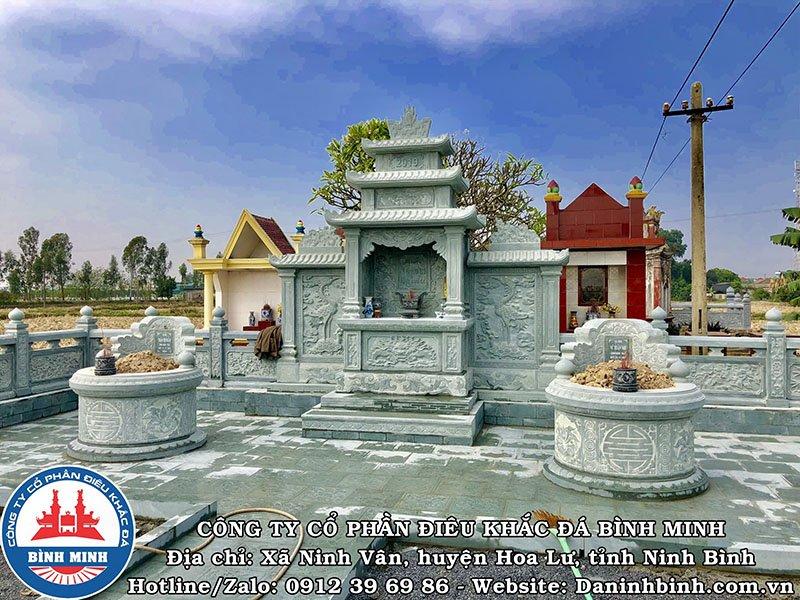 Lăng thờ đá khu lăng mộ tại Thái Bình