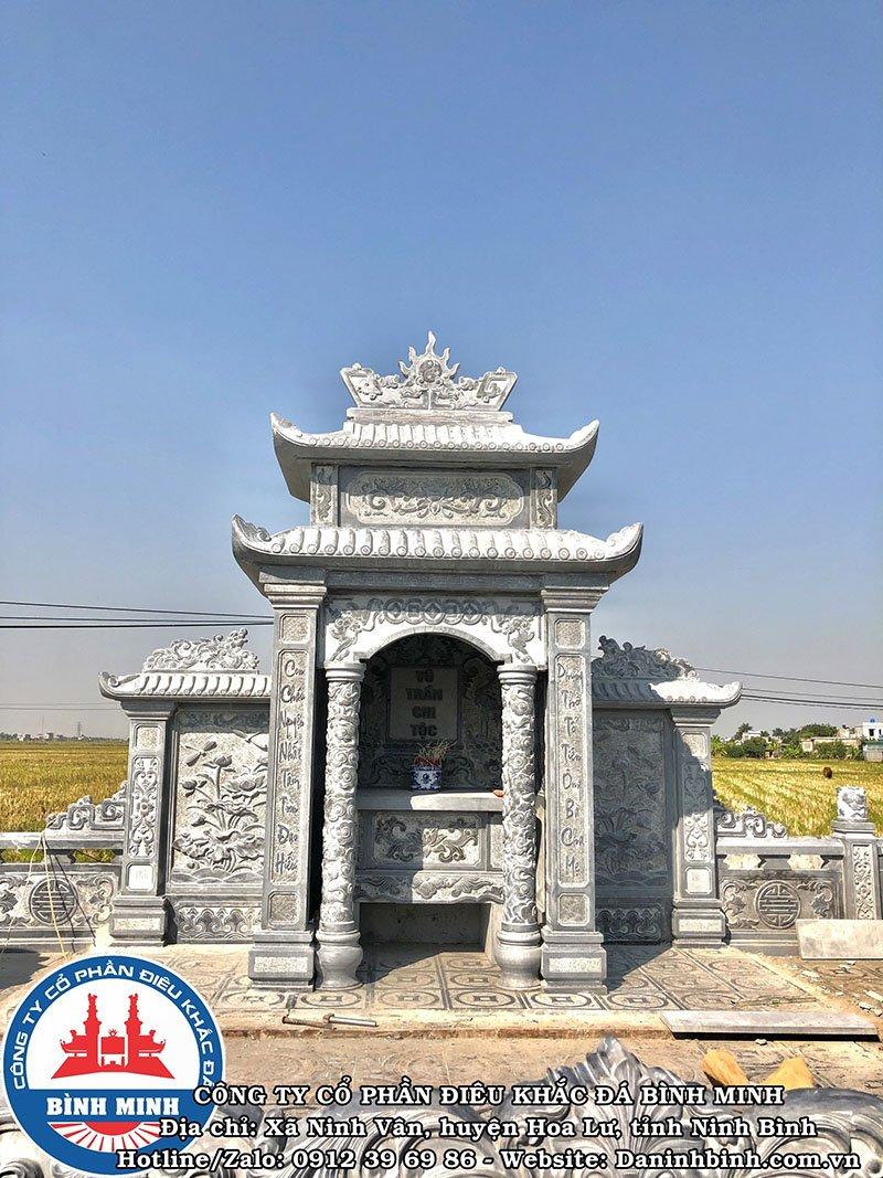 Lăng thờ đá hai mái, ba cánh tại Nam Định