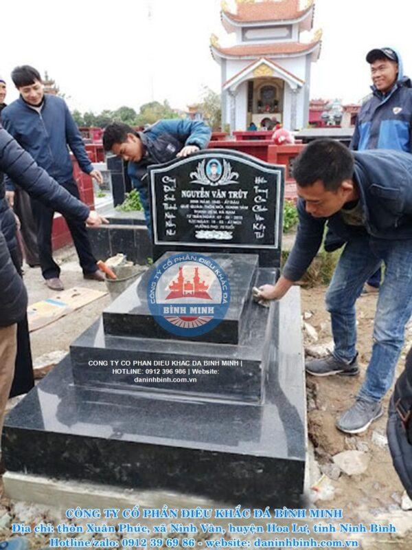 Lắp đặt mộ đá hoa cương trên toàn quốc