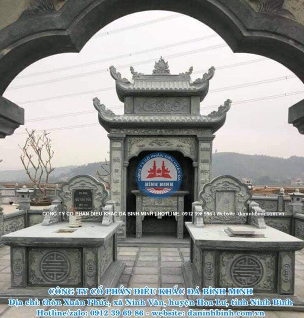 Lầu thờ đá cao cấp Công ty Bình Minh thi công