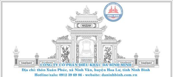 Lầu thờ đá Công ty Bình Minh thiết kế