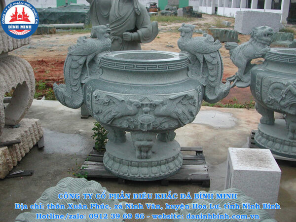 Lư hương đá Granite Công Ty Bình Minh