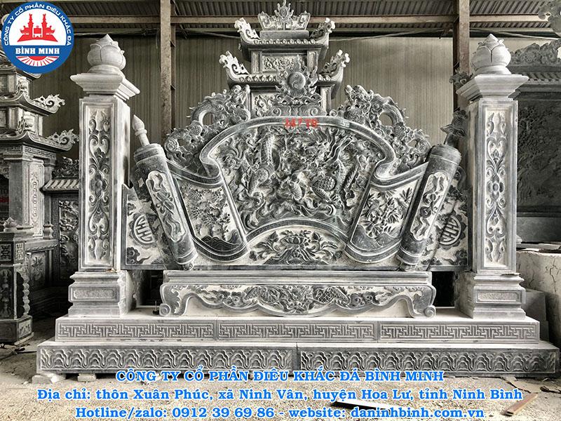 Cuốn thư bằng đá đẹp cho đình chùa