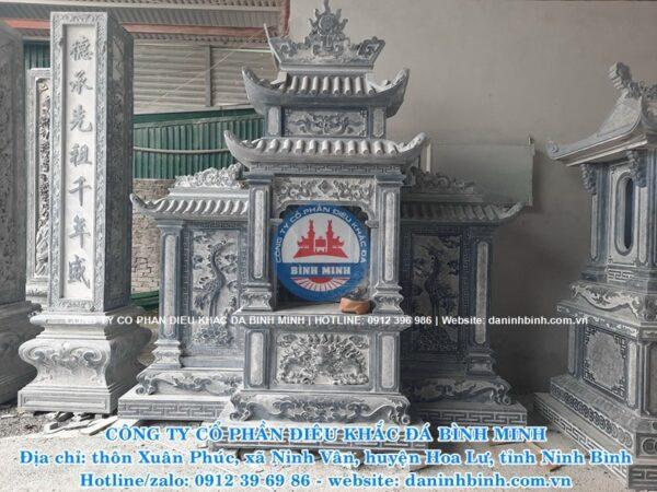 Mẫu lăng thờ đá cánh hai mái Công ty Bình Minh