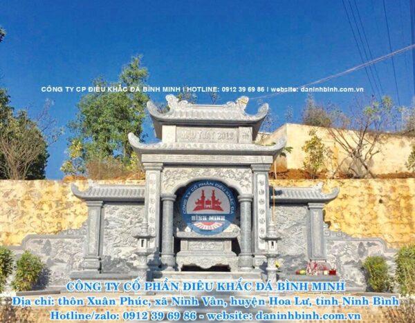 Mẫu lăng thờ đá cao cấp Công ty Bình Minh thi công