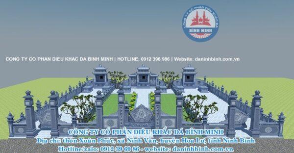 Mẫu lăng thờ đá khu lăng mộ cao cấp Công ty Bình Minh