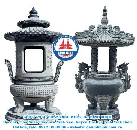 Mẫu lư hương đá đẹp Công Ty Bình Minh