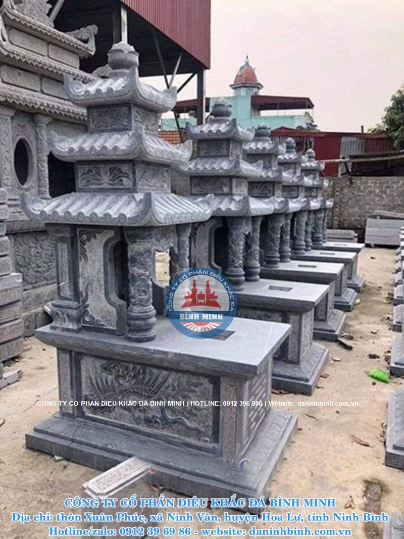 nhiều mẫu mộ đá đẹp ba mái tại ninh bình