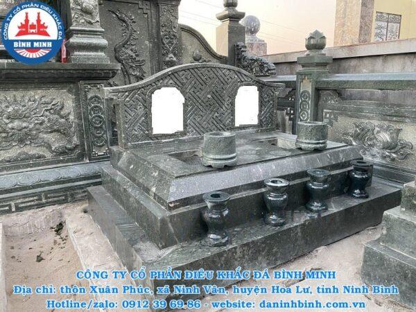 Mẫu mộ đá đôi đẹp Công ty Bình Minh