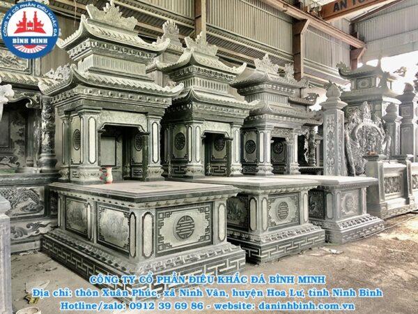 Mẫu mộ đá hai mái cao cấp Công ty Bình Minh