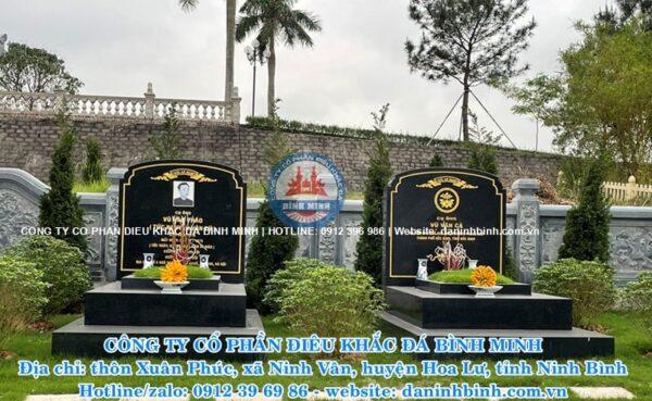 Mẫu mộ đá hoa cương cao cấp Công ty Bình Minh thi công